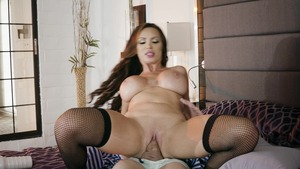 Pornstars Like It Big: Inked Nikki Benz reverse cowgirl