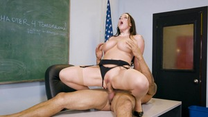 Big Tits at School: Busty Karlo Karerra lusts handjob