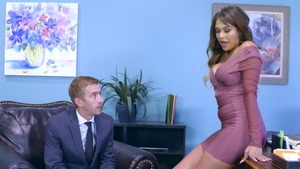 Big Tits at Work - Brunette Cassidy Banks blowjobs porn in HD
