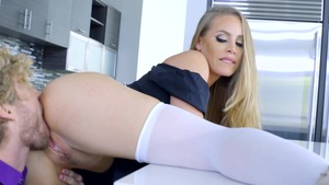 Big Tits at Work: Maid Nicole Aniston cumshot XXX video HD