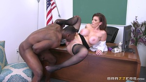 Big Tits at School - Caucasian Sara Jay spanking