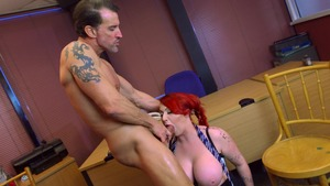 Big Tits at School: Brown hair Harmony Reigns reverse cowgirl