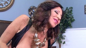 MommyGotBoobs - Tara Holiday in a dress handjob