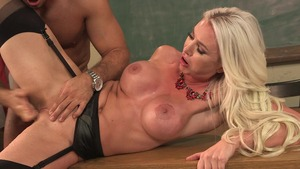 Big Tits at School: Gigi Allens and Chad White cumshot
