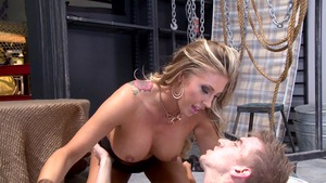 PornstarsLikeItBig - Samantha Saint in thongs and Danny D