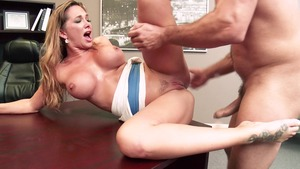 Big Tits at School - Destiny Dixon cumshot