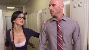 Big Tits at School - American Kendall Karson is a inked girl