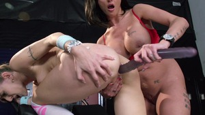 Hot and Mean: Joslyn James along with piercing Natasha Starr