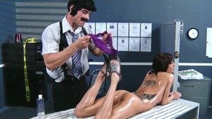 Dirty Masseur - Inked Gia Dimarco massage outdoors