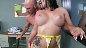 Baby Got Boobs: Bald Casey Cumz reverse cowgirl sex tape