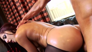 Big Wet Butts: Gagging porn among petite oily Mischa Brooks