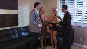 PornstarsLikeItBig - Nikki Benz wearing suit and Alexis Ford