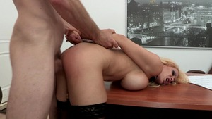 Big Tits at Work: Candy Manson fingering scene