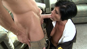 Big Tits in Uniform - Shay Fox in boots masturbation
