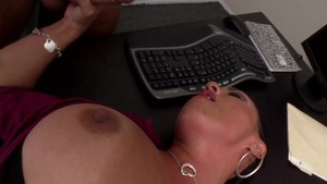 Big Tits at Work - Mariah Milano agrees to raw sex