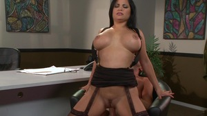 Big Tits at Work - Sophia Lomeli fantasy throat fucking XXX