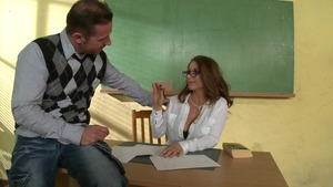 Big Tits at School - Tattooed Roberta Gemma riding big penis
