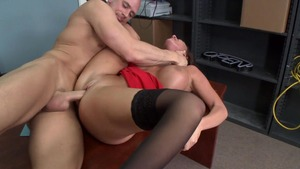 Big Tits at Work: Inked Richelle Ryan POV blowjob in the store