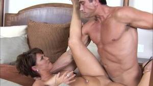 Big Tits at Work: Bald Kayla Synz reverse cowgirl