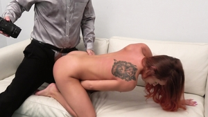 Fake Agent - James Brossman with Renata Fox cumshot in office