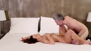 Nubile Films: Creampied accompanied by busty girl Lutro