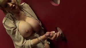 LadySonia: Large boobs british MILF gloryhole at the party